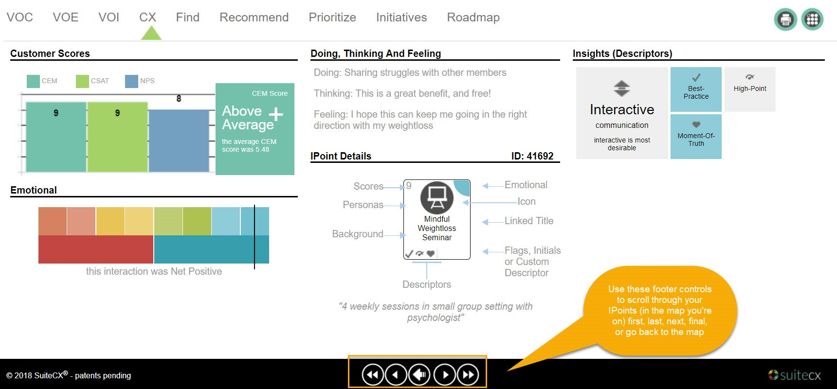 IPoint Editor 360 Summary View
